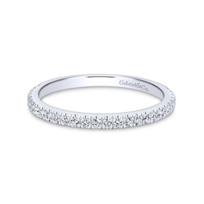 14K White Gold Matching Wedding Band -0.24 ct