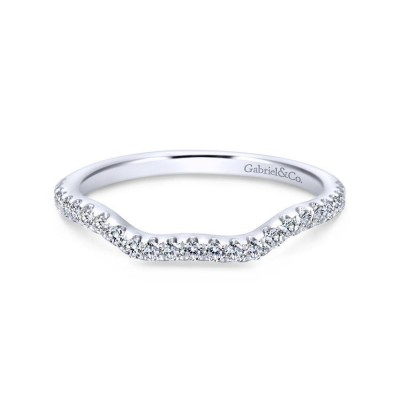 14K White Gold Matching Wedding Band -0.20 ct