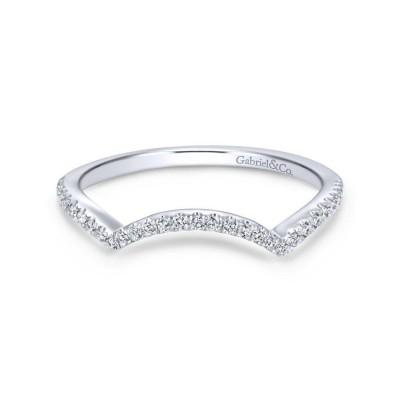 14K White Gold Matching Wedding Band -0.15 ct