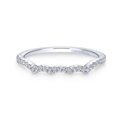 14K White Gold Matching Wedding Band -0.15 ct