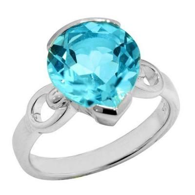Ss Blue Topaz Ring