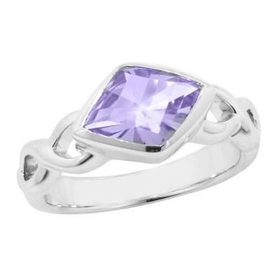 SS Infinity Shank Amethyst Ring
