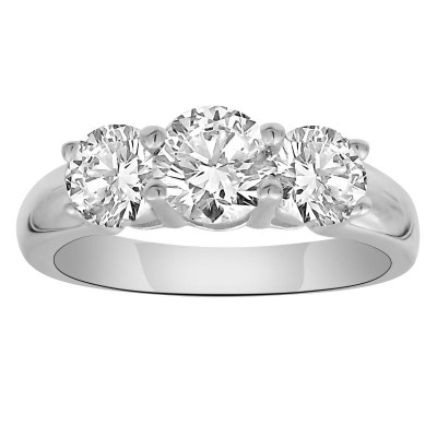 0.50 cttw 14ky 3 stone diamond ring