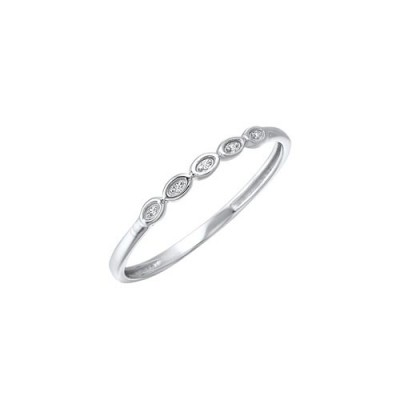 Diamond Mini Stackable Ring in White Gold (0.01ctw)