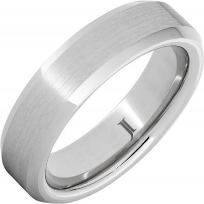 6mm Serinium® Bevel Band Satin