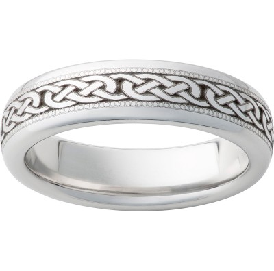 6mm Serinium® Dome Band 3 Knot Milgrain