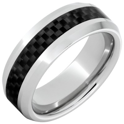 8mm Serinium Band w/Carbon Fiber Inlay