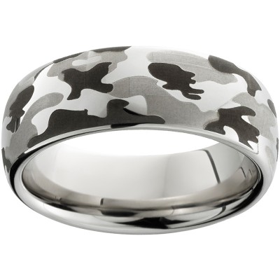 8mm Serinium® Dome Band Camo Laser