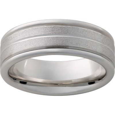 8mm Serinium® Band .5mm Gr Stone Band