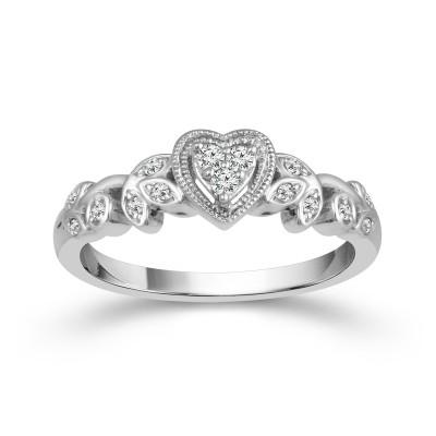Vintage Heart Promise Ring