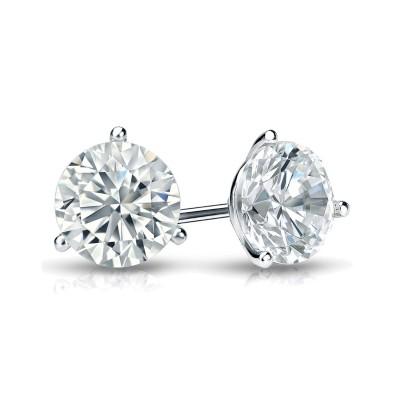 2.47CTW ASTRL Lab Grown 3 Prong Diamond Studs