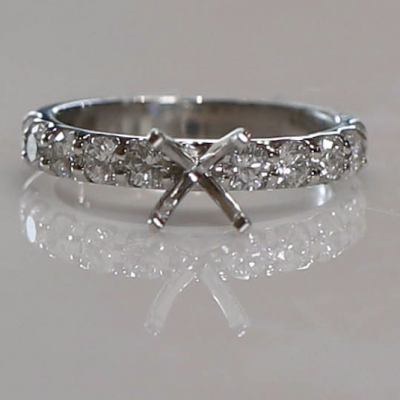 14kw 1.00cttw Shared Prong Engagement Ring Mounting