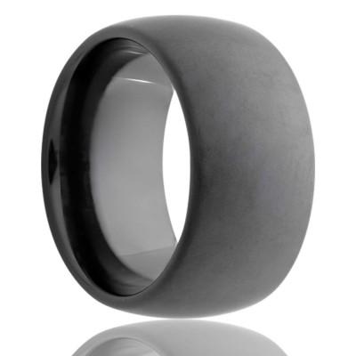 8mm Black Ceramic Sand Blast Finish Band Size 10