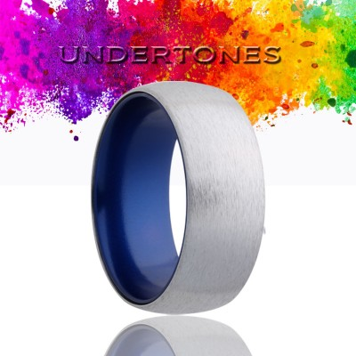 8mm Cobalt Band w/Blue Inlay Size 9.5