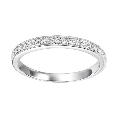 Diamond 1/4 Eternity Slim Stackable Band in 10k White Gold