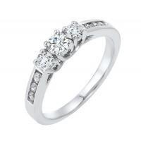 14kw 9 stone Diamond Ring