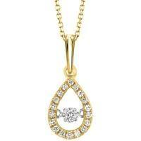 10ky .20cttw Pear Shaped Diamond Pendant