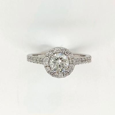 1CTW ASTRL Lab Grown Round Halo Diamond Engagement Ring