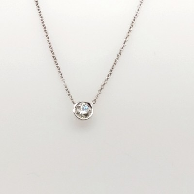 1ct ASTRL Lab Grown Bezel Set Diamond Pendant