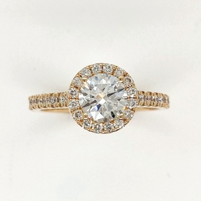 1.20CTY Round Halo Diamond Engagement Ring