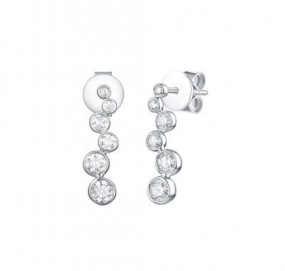 """Lab Grown Diamond """"Bubbly"""" Earrings"""