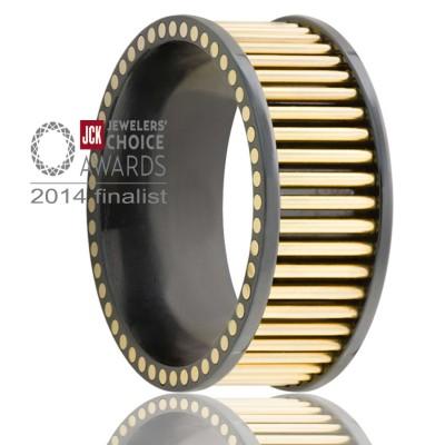 8mm Zirconium 14k Yellow Gold Pins