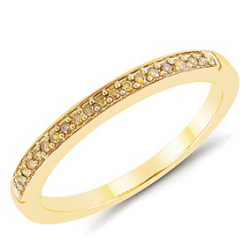10kt .10ct yellow diamond stackable band