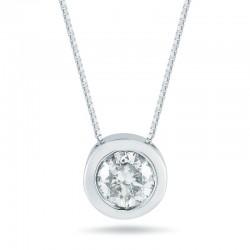 14kw .50ct Bezel Set Diamond Pendant