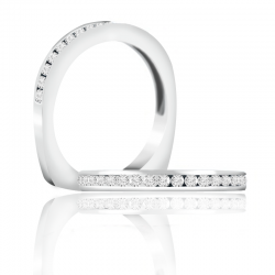 A. Jaffe 18kt White Gold Wedding Band Eighteen Sparkle Diamonds