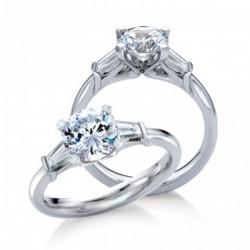 MaeVona 18Kw Torsa Ring Semi-Mount Solitaire Engagement Ring