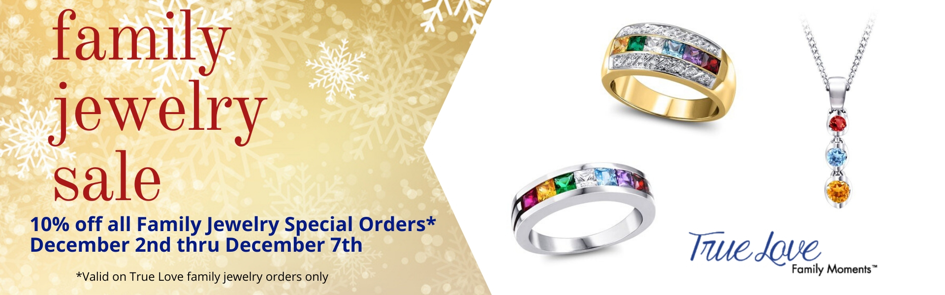 10% off Family Jewelry Orders