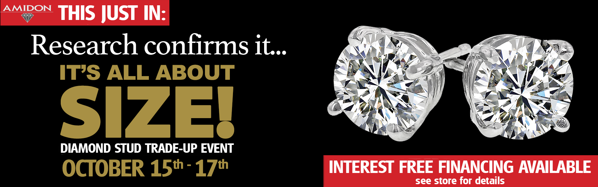 All About Size Stud Event October 15 -17