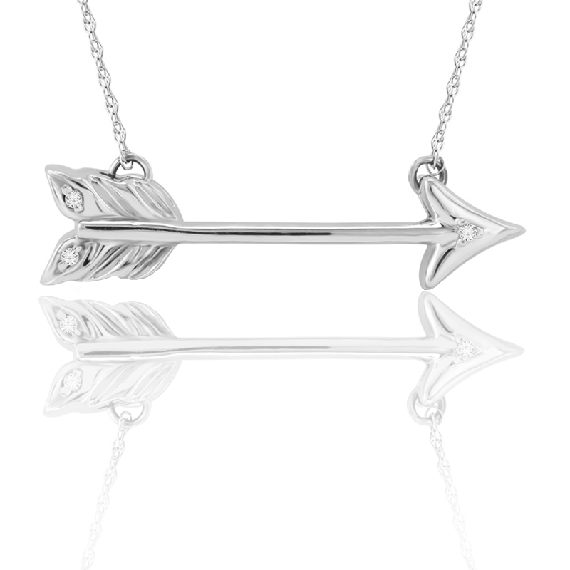 Whimsical Diamond Arrow Pendant
