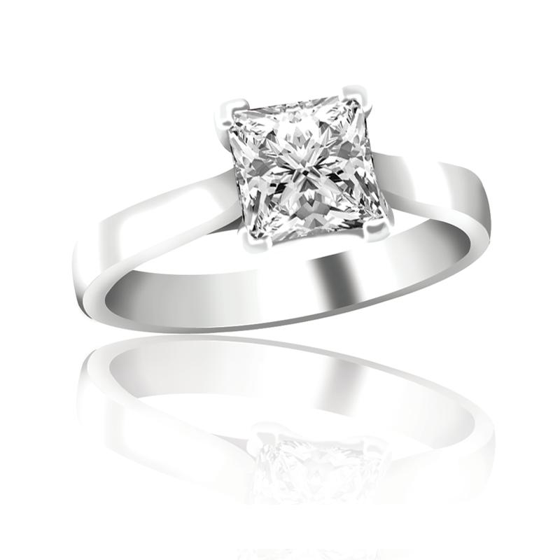Princess Cut Diamond Solitaire
