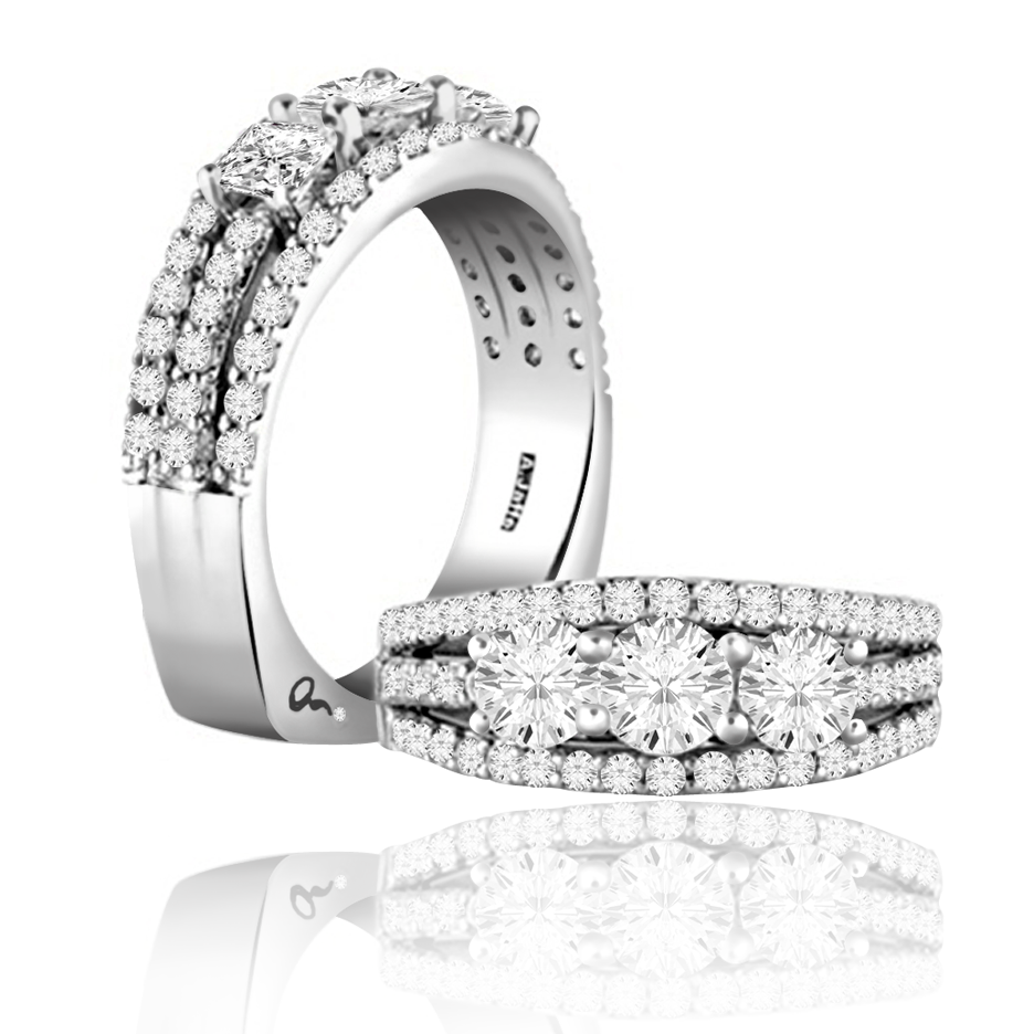 A Jaffe Diamond Anniversary Rings