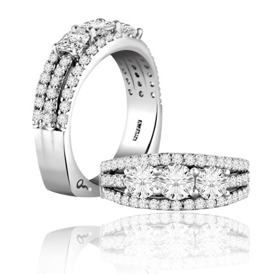 A Jaffe Diamond Anniversary Rings
