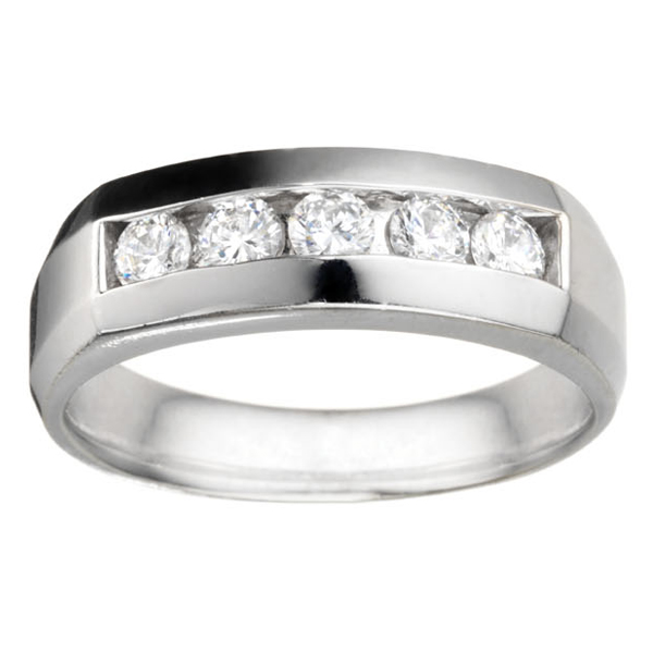 1/2CTTW Men's Diamond Wedding Band