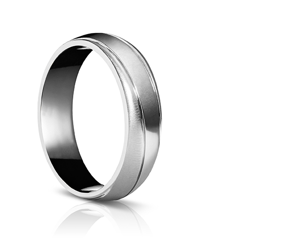 Sholdt Mobius Twist Wedding Band in 14k White Gold AMDSHOLDTB426